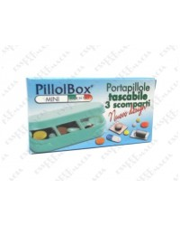 Portapillole Pillbox Mini compatto 3 scomparti