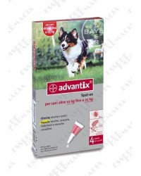 Advantix Spot On 4 Pipette da 10 a 25 Kg
