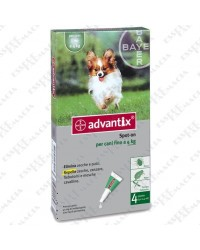 Advantix Spot On 4 Pipette fino 4 kg