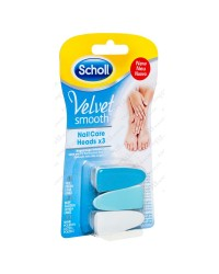 Scholl Velvet Smooth Ricambio 3 Lime per Kit Nail Care